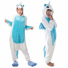 f79ea7f8db Winter Unisex Adult Pajamas Cosplay Costume Animal Onesie Sleepwear Stitch  Zebra Panda Totoro Bear Bat Unicorn Tenma Pig Pikachu