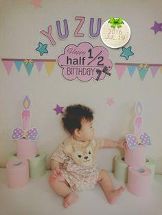 Happy Birthday Decor, Birthday Decorations, Half Birthday Baby, Monthly Baby Photos, Baby Art, Baby Month By Month, Newborn Photos, Anniversary, Crafts
