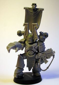 KHORNE WORLD EATERS CHAOS SPACE MARINES Champion - by WADE'S WORKSHOP