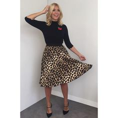 Today's look on @thismorning skirt and knit by @zara and shoes by @lkbennettlondon