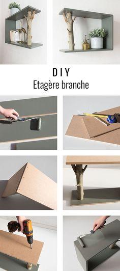 DIY étagère branche - #branche #DIY #étagère