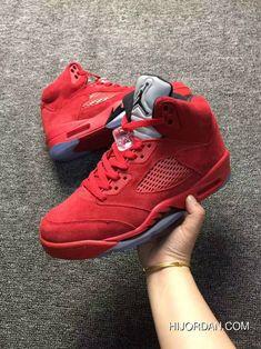 d0451ac96287 Men Basketball Shoe Air Jordan 5 Red Raging Bulls AAAAA 327 New Release