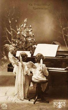 beautiful, vintage Russian Christmas card