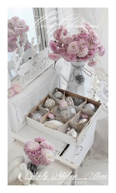 Vintage Shabby Chic Christmas Ornament Collection - via Nelly Vintage Home