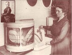 Out of frustration, Josephine Cochrane invented the dishwasher. She'd been angry that hired domestic help continually broke and chipped her fine china. Cochrane's dishwasher used high water pressure aimed at a wire rack of dishes, she received a patent for it in 1886.During this era, most houses didn't have the technology of a hot water system to run such a machine, but Cochrane persisted and sold her idea to hotels and restaurants.