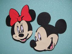 10 Mickey or Minnie Mouse Cricut Die Cuts by PaperKissesink, $6.70