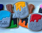 Artist Paint Can and Brush Sugar Cookie Collection