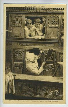 Other Collectible Cultural & Ethnic Postcards Antique Photos, Vintage Photographs, Old Photos, Vintage Photos, Enclosed Bed, Antique Beds, Antique Furniture, Victorian Bed, Journey To The Past