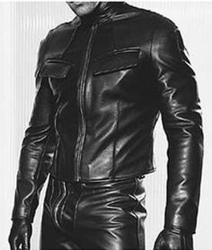 Get that retro biker chic look with the Classic Leather Biker Jacket For Men! With this jacket, you give us your complete measurements, and we'll create a form-fitting cropped leather jacket just for you.  #Leatherbikerjacketformen