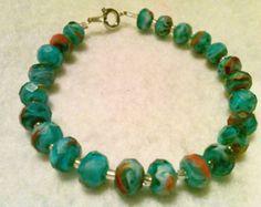 Peyote Stitch Czech Bracelet Colorful by CountryChicCharms