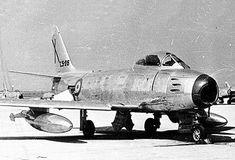 Imagen histórica del cazabombardero North American F-86 -Sabre- (C-5)