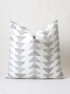 big white triad cushion– susan connor new york