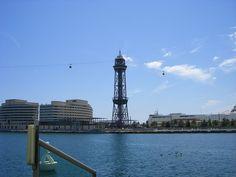 Seilbahn auf den Montjuic vom Port Vell aus - Barcelona