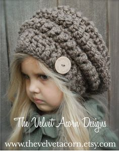 Ganchillo PATTERN-The Stormlyn Slouchy tamaños por Thevelvetacorn