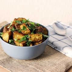 Roasted Potatoes with Mexican Spices. serve with black beans, salsa, avocado...potato nachos