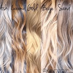 Trendy Hair Highlights : awesome Different tones of blonde. Tips for clients when your a hair stylist. blonde hair styles Trendy Hair Highlights : awesome Different tones of blonde. Tips for clients when your a hair stylist……. Blonde Tips, Carmel Blonde Hair, Caramel Blonde, Going Blonde From Brunette, Sandy Blonde, Great Hair, Awesome Hair, Trendy Hairstyles, Blonde Hairstyles
