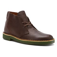 Clarks Desert Boot Brown Oily Leather/Green Crepe