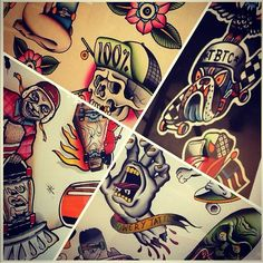 Some of the designs by the gets at Bowery Tattoo Co. TattooStage.com - Rate & Review your tattoo artist and his studio. #tattoo #tattoos #ink