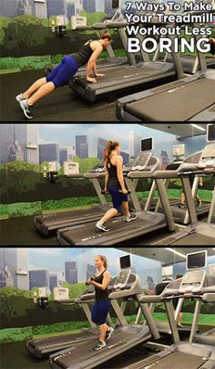 Healthy Fit Put a little pep in your step with these intense treadmill exercises - Let's be honest: There are few cardio workouts more painfully boring than jogging on the treadmill. Yet many of us often resort to such drudgery -- espec. Treadmill Workouts, At Home Workouts, Butt Workouts, Workout Tips, Forma Fitness, Fitness Tips, Fitness Motivation, Enjoy Fitness, Sup Yoga
