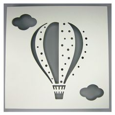Hot Air Balloon Shadow Box - Urban Nest for sale by Little Shop of Treasures. Other Urban Nest Design available now at LSOT. Girl Nursery, Nursery Ideas, Fashion Hub, Fashion Design, Nest Design, Pink Grey, Navy Blue, Top Designer Brands, Hot Air Balloon