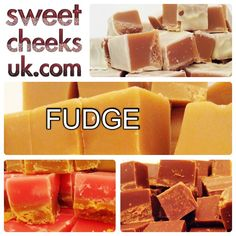Some of our fudge selection vanilla, strawberries and cream, chocolate and white chocolate and Irish cream