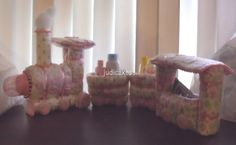 Diaper Cake Train Baby Shower Gift Centerpiece Centerpieces, Table Decorations, Holidays And Events, Baby Shower Gifts, Candle Holders, Train, Candles, Cake, Ebay
