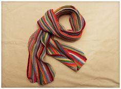 Rainbow Multicolor and Bright Crochet Scarf by KraheCraftworks