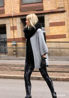 Oversize Open Front Cardigan - Grey - Oversized Fit Outwear