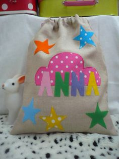 ANNA draw string bag, YAYA hand-made par élodie Bataille