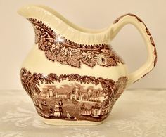 Check out this item in my Etsy shop https://www.etsy.com/listing/203917602/vintage-masons-vista-brown-transferware