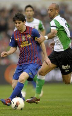El Racing-Barça, en imágenes