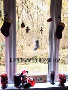 BusyBee: Advent Window number 5 : hanging children's toys #CraftyChristmas #ShutterlyChristmas