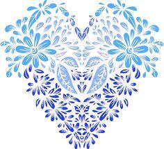 Stylized heart of floral motifs