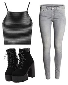 """BASIC ◼️"" by serenaterrizzi on Polyvore featuring moda, Topshop, women's clothing, women's fashion, women, female, woman, misses e juniors"