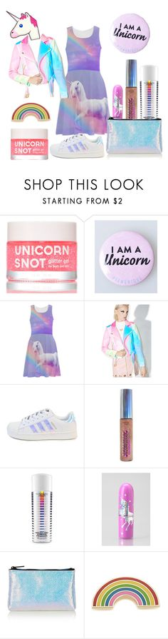 """Unicorn OOTD "" by charlotte-129 ❤ liked on Polyvore featuring Sugarpills, Hard Candy, MAC Cosmetics, Lime Crime, Topshop and Georgia Perry"
