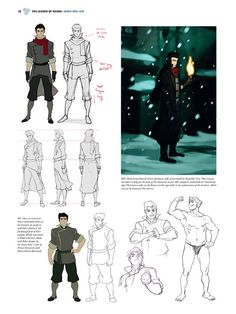 See The Legend of Korra Come to Life in This Gorgeous New Art Book Bolin Legend Of Korra, Avatar Legend Of Aang, Korra Avatar, Avatar Ang, The Last Avatar, Avatar The Last Airbender Art, Lin Beifong, Character Turnaround, Character Sheet