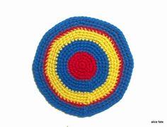 Mandala 29. Basics. Crochet Art Mandala in Primary Colors - Yellow, Blue and Red//The Mandala Project by Alice Fate www.alicefate.com/mandala-project