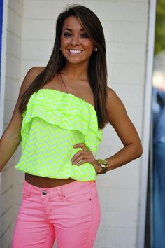 Funky neon outfit!