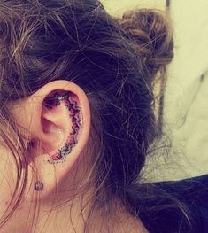 Ear tattoos is one of those tattoos which offer literally endless options as far as the placement and designing is concerned. You can have the tattoo on the lobe of the ear, its shell or behind the ear, as the design and your preference demands. - Part 5