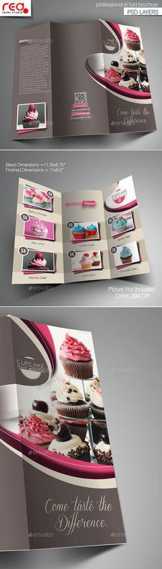 Cupcake Trifold Brochure Template -1 - Corporate Brochures