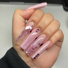 Bling Acrylic Nails, Simple Acrylic Nails, Best Acrylic Nails, Long Square Acrylic Nails, Coffin Nails Long, Acylic Nails, Exotic Nails, Cute Acrylic Nail Designs, Fire Nails