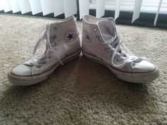 b4aa5676bfdc79 White High Top Converse Womens Size 7 (Worn)  fashion  clothing  shoes