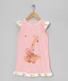 Take a look at this Pink Rainbow Strawberry Ruffle Gown - Toddler by Strawberry Shortcake on #zulily today!