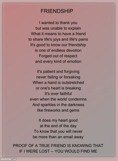 FRIENDSHIP POEM | MOSSAVI MODEL - expression of thoughts