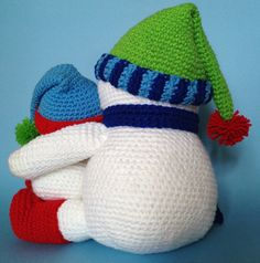 PDF CROCHET PATTERN for Reading Snowman by bvoe668 on Etsy