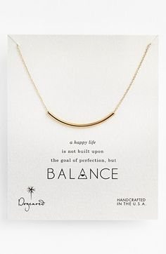 Free shipping and returns on Dogeared 'Balance' Necklace at Nordstrom.com. A subtly symbolic crescent-shaped bead strung on a delicately handcrafted chain is sleek enough for layering.
