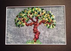 A tree for summer. Kit available in my etsy store. CrosswiseDesigns.