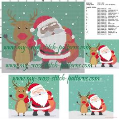 Santa Claus cross stitch pattern