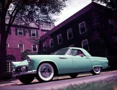 1955 Ford Thunderbird Mint Green with Hard-Top & Soft-Top.