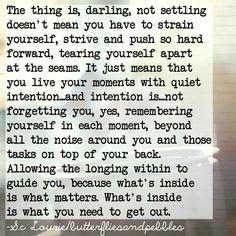 Not settling